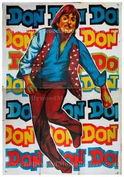 Don 1978 Amitabh Bachchan old vintage original hand painted Bollywood movie posters for sale