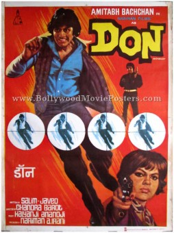Don 1978 Amitabh Bachchan movie poster bollywood
