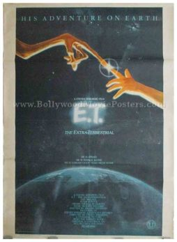 Old vintage ET the Extra-Terrestrial original movie poster Steven Spielberg