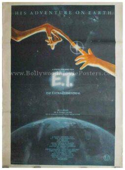 Old vintage ET the Extra-Terrestrial original movie poster Steven Spielberg