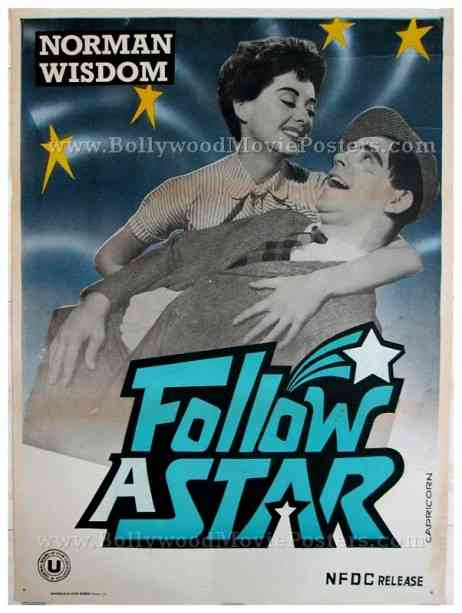Follow A Star Norman Wisdom original old vintage Hollywood movie poster for sale