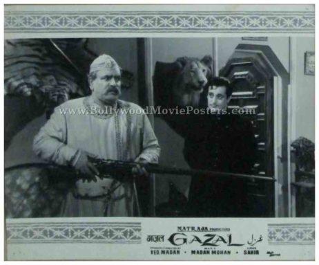 Gazal 1964 Meena Kumari Sunil Dutt old bollywood movie black and white pictures photos stills lobby cards