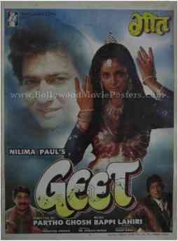 Geet Divya Bharti buy classic indian film hindi bollywood movie posters