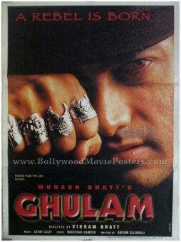 Ghulam Aamir Khan classic Hindi movie posters