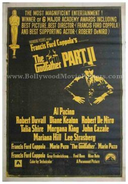 Godfather Part 2 1972 original movie poster for sale Al Pacino Michael Corleone