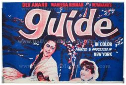 Guide Dev Anand original old vintage hand painted Bollywood movie posters for sale