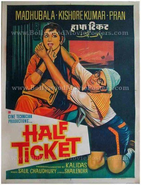 Half Ticket 1962 madhubala kishore kumar posters online for sale