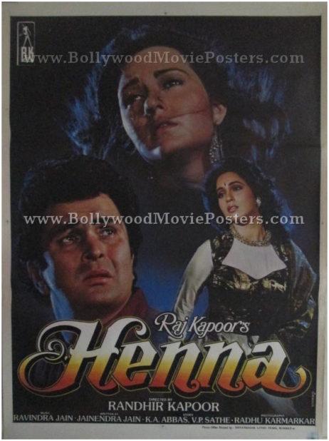 Henna Raj Kapoor buy classic bollywood movie posters