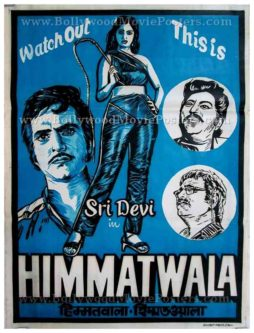 Himmatwala 1983 Sridevi Jeetendra old vintage hand painted Bollywood posters for sale