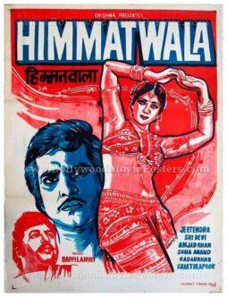 Himmatwala 1983 Sridevi Jeetendra old hindi film posters for sale