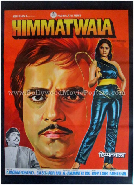 Himmatwala Sridevi Jeetendra vintage bollywood movie posters for sale