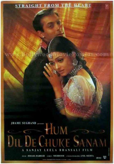 Hum Dil De Chuke Sanam classic Indian Bollywood Hindi movie film posters
