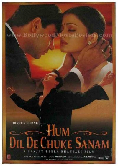 Hum Dil De Chuke Sanam old Bollywood movie salman khan aishwarya poster