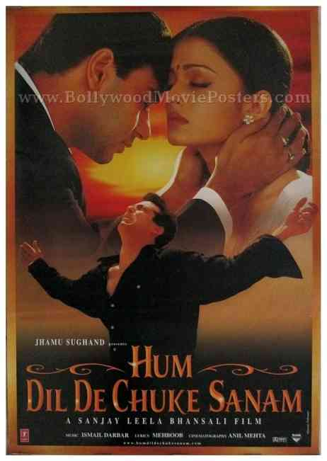 Hum Dil De Chuke Sanam old Bollywood movie salman khan aishwarya poster