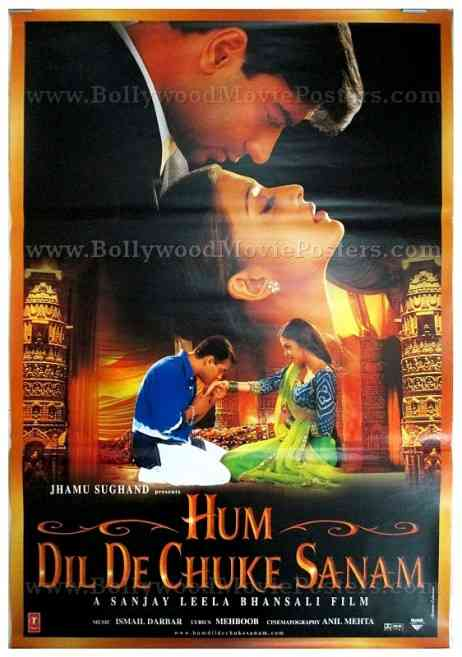 Hum Dil De Chuke Sanam classic Bollywood salman khan movie poster