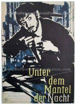 Jagte Raho 1956 Raj Kapoor old vintage hand painted bollywood movie posters for sale