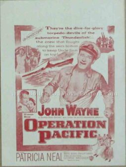 Operation Pacific 1951 old vintage movie handbills for sale online in US, UK, Mumbai, India