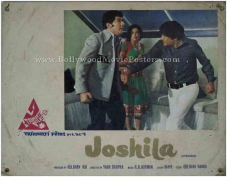 Joshila dev anand old bollywood movie lobby cards pictures stills photos