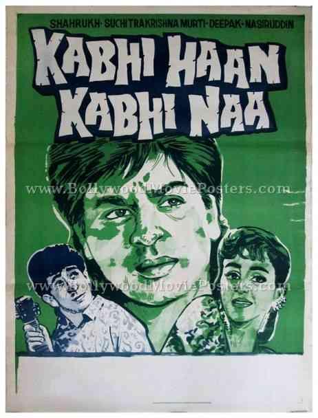 Kabhi Haan Kabhi Naa hand drawn Shahrukh Khan SRK Bollywood posters