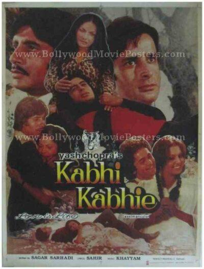 Kabhi Kabhie Amitabh Bachchan old movies posters Bollywood