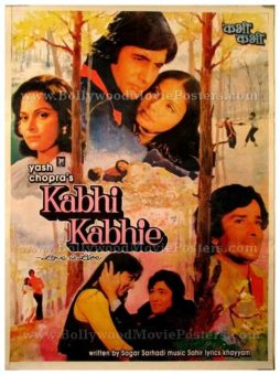 Kabhi Kabhie old Amitabh Bachchan Yash Chopra vintage Bollywood movie posters for sale