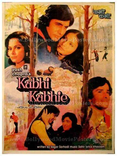 Kabhi Kabhie old Amitabh Bachchan Yash Chopra vintage Bollywood movie posters for sale