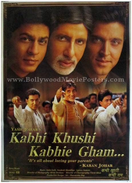 Kabhi Khushi Kabhie Gham K3G KKKG Shahrukh Khan movie poster