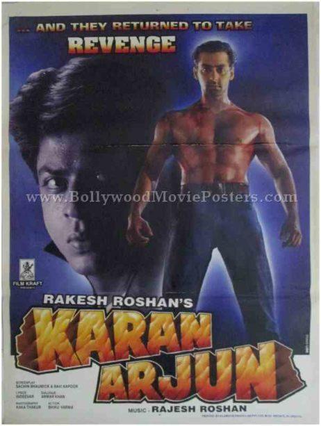 karan arjun movie poster salman shahrukh khan buy online