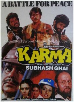 Karma 1986 Dilip Kumar buy old bollywood movie posters online