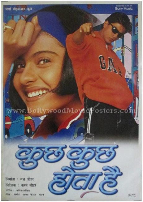 Kuch Kuch Hota Hai KKHH original movie poster Shahrukh Khan Kajol Karan Johar