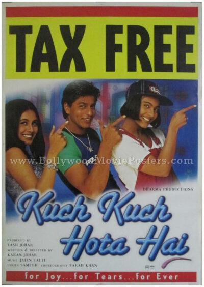 Kuch Kuch Hota Hai KKHH movie poster shahrukh khan kajol