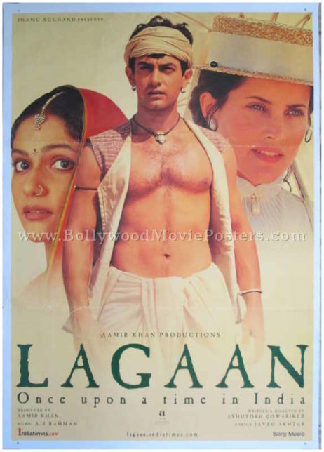 Lagaan Bollywood movie posters old Hindi film