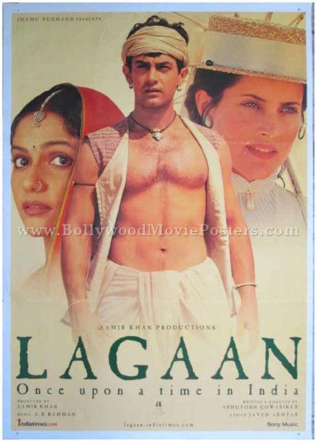 Lagaan Bollywood movie posters old Hindi film