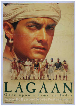 Lagaan cricket team poster Aamir Khan Bollywood movie