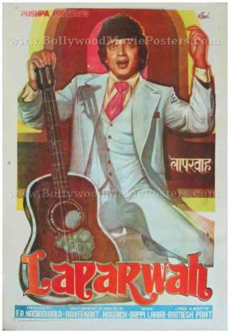 Laparwah 1981 hand drawn painted hindi bollywood movie posters