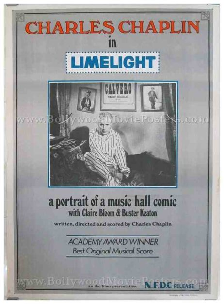 Charlie Chaplin Limelight original old vintage Hollywood movie posters for sale