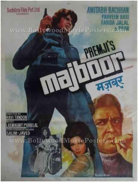 Majboor old Amitabh Bachchan movie posters