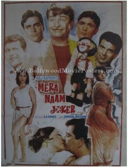Mera Naam Joker old Raj Kapoor movie film posters