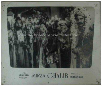 Mirza Ghalib 1954 Sohrab Modi actress Suraiya old bollywood movie black and white pictures photos