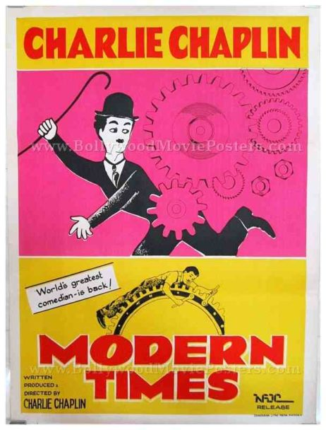 Charlie Chaplin Modern Times original old vintage Hollywood movie posters for sale