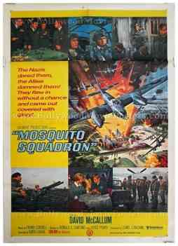Mosquito Squadron David McCallum original old vintage Hollywood movie posters for sale