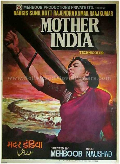 Mother India original authentic old vintage Bollywood movie posters buy online sale