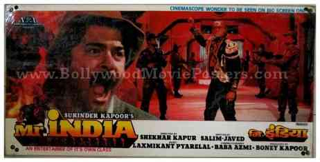 Mr. India Anil Kapoor Sridevi Mogambo old Bollywood movie stills photographs lobby cards
