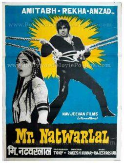 Bollywood pop art poster Mr. Natwarlal Amitabh for sale