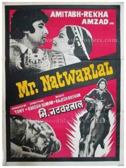 Mr. Natwarlal Amitabh Bachchan Rekha old Indian cinema posters for sale in Delhi, India