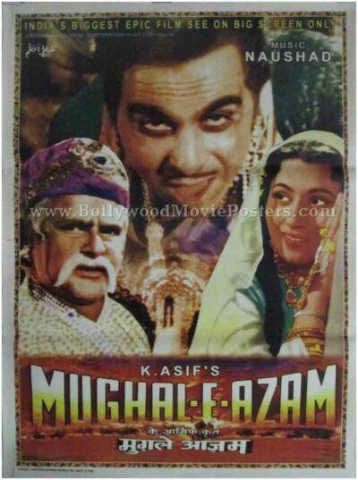 Mughal-e-azam original Bollywood film poster buy for sale
