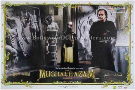 Mughal-e-azam original Bollywood movie poster