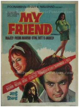 My Friend 1974 vintage bollywood hindi movie indian film posters for sale