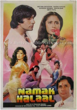 Namak Halaal Amitabh Bachchan old movies posters for sale