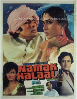Namak Halaal old Amitabh movies posters